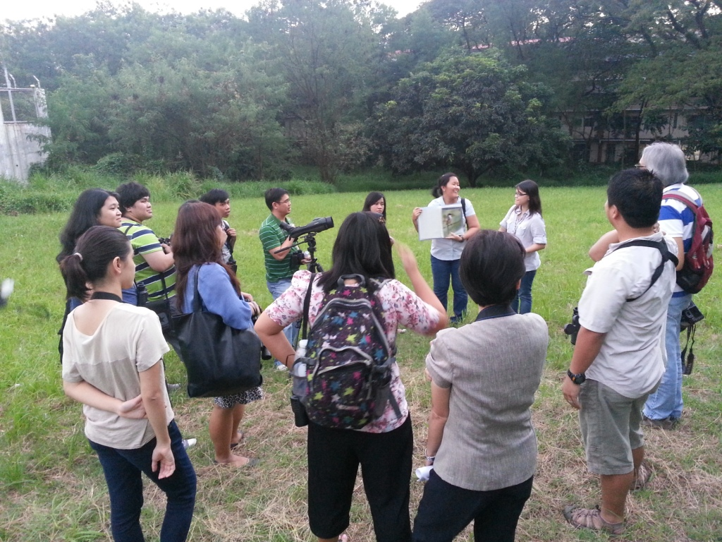 Participants and guides in the Ateneo campus. Photo by Jun Osano.