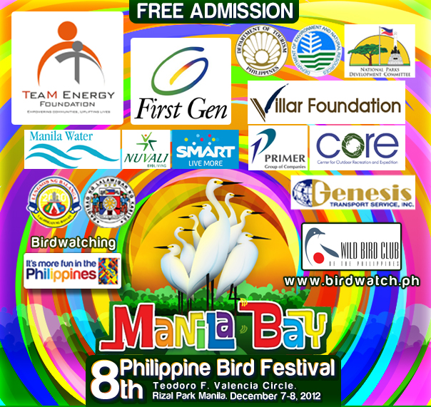 8th Philippine Bird Festival logo and sponsors