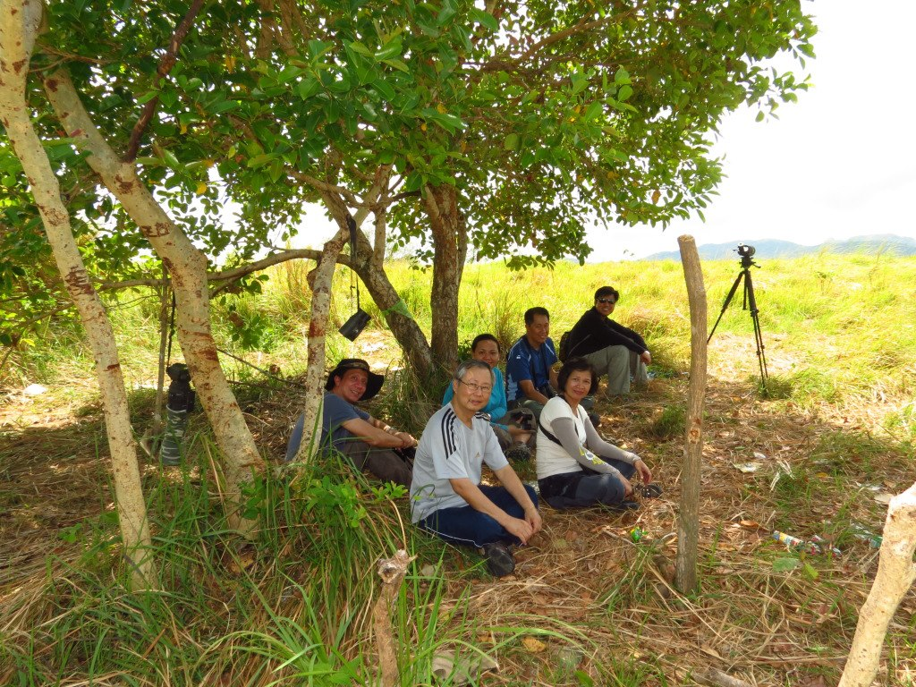 Birders waiting for raptors under the shade. Photo by Vincent Lao