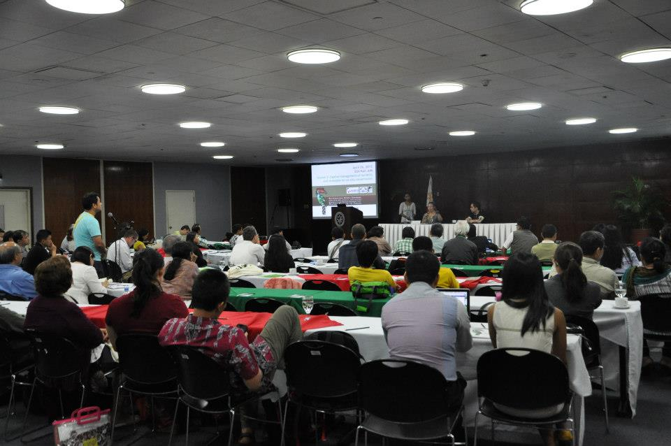 One of the presentations during the two-day conference. Photo by Anthony Arbias.