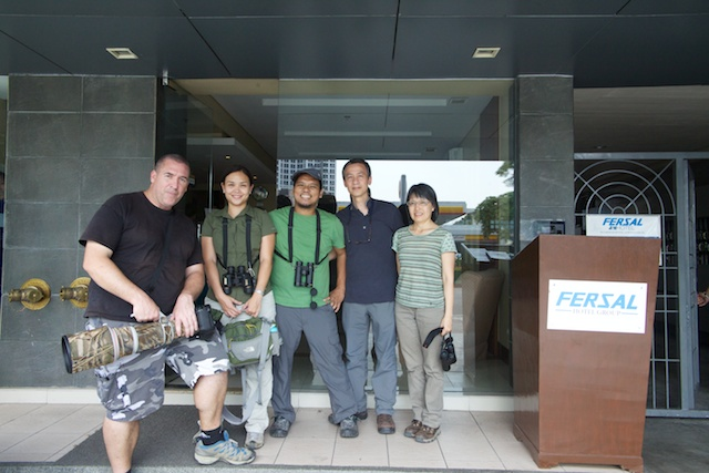 Group photo after birding. From L-R: Dave Irving, Maia Tanedo, Jops Josef, Eric To, Penn To. Photo from Eric To.