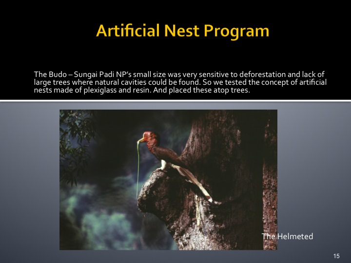 Dr. Woraphat Arthayukti, 6th International Hornbill Conference Manila, Philippines - Slide 15