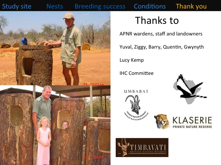 Kate Meares, 6th International Hornbill Conference, slide 19