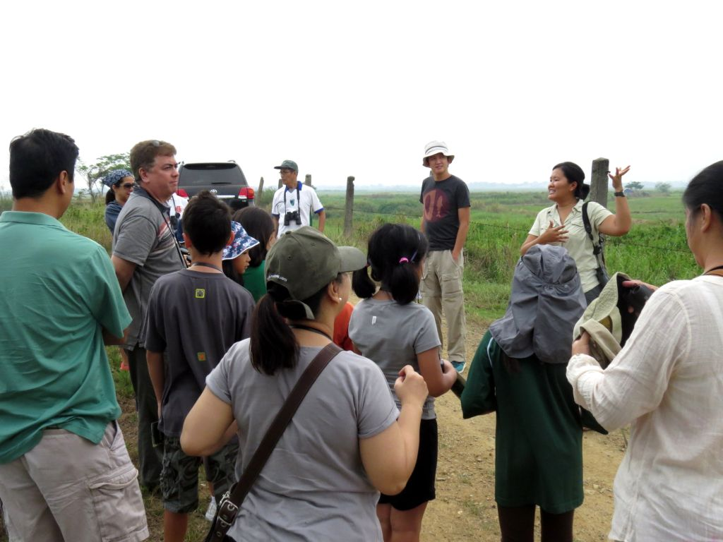 Trinket Constantino giving the introduction before the birdwatching activity. Photo by Maia Tanedo