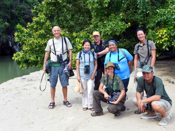 At the Palawan Underground River with Christian, Leni, Peter, Carmela, Sylvia and Tonji