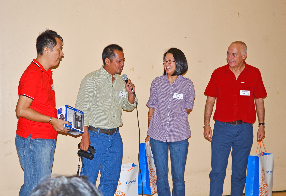 The Big Year Winners for the Regular Birders category: Tonji and Sylvia Ramos. took the highest spots, followed by Christian Perez. Photo by Marites Falcon.