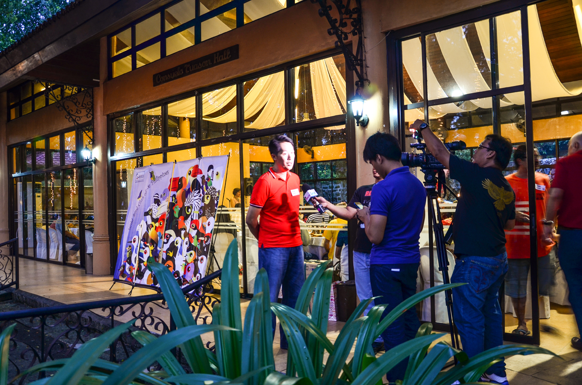 GMA News Network team interviewed Mike Lu on WBCP's 10th Year Anniversary. Photo by Marites Falcon.