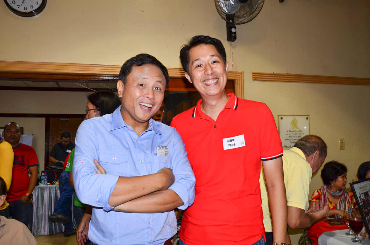 GMA 7 News personality Howie Severino with Mike Lu. Photo by Marites Falcon.