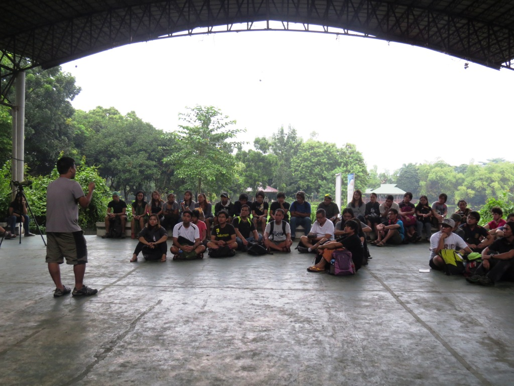 Jops giving the introduction to the birding activity in NAPW. Photo by Maia Tanedo