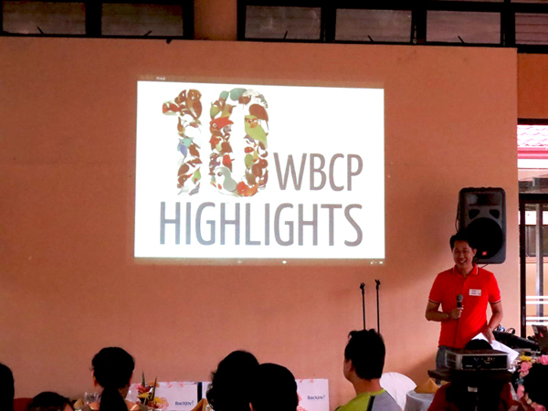 The Top 10 WBCP Highlights presented by outgoing President Mike Lu.  Photo by Irene Dy.