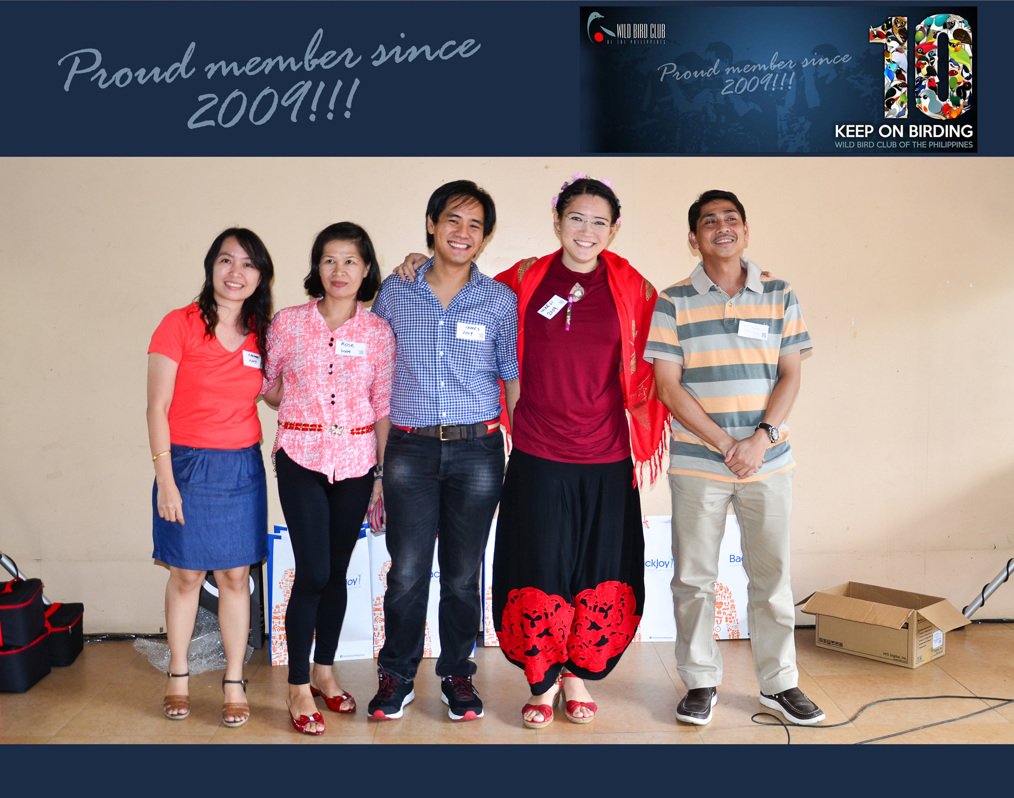 WBCP Batch 2009: ______, Rose Lacson, James Asprer, Mikeli Mapua, _____. Photo by Marites Falcon.