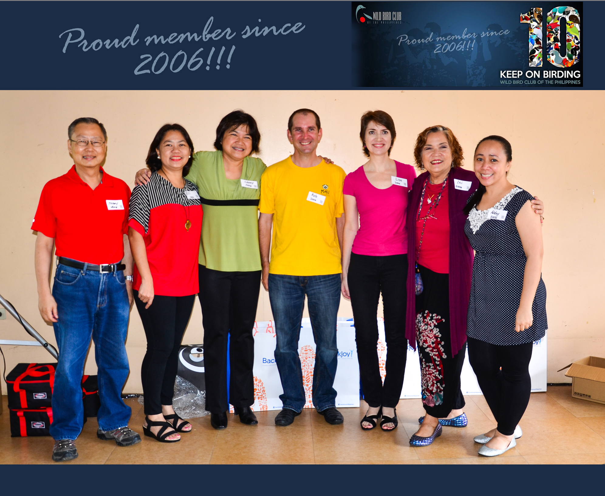 WBCP Batch 2006: Tommy Tan, ___, Chary____, Rob Hutchinson, Lisa______,  Ixi Mapua, Abby Santos. Photo by Marites Falcon.