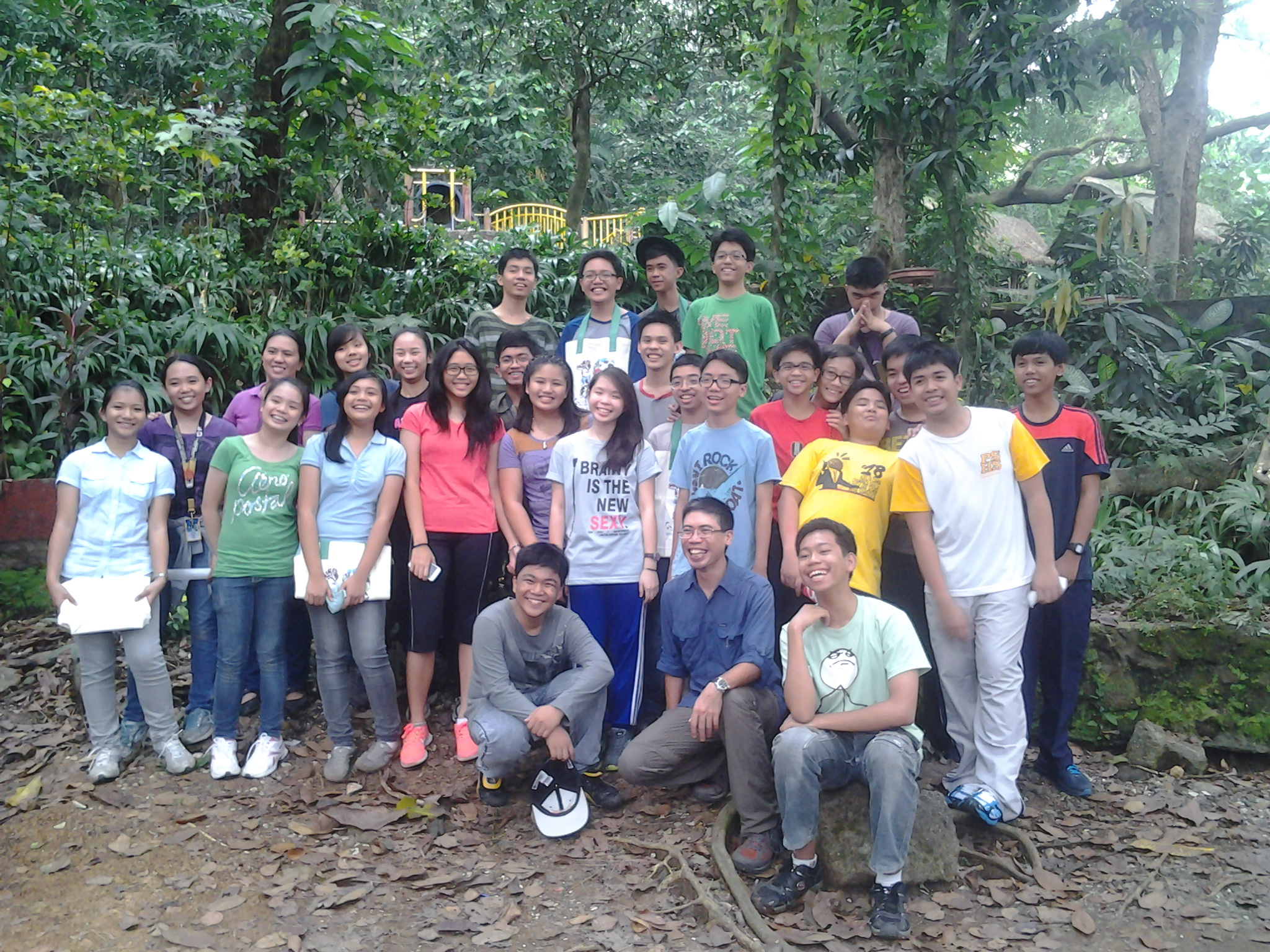 WBCP Secretary Jon Javier posing with his advisory class after the bird race. Photo by Maia Tanedo