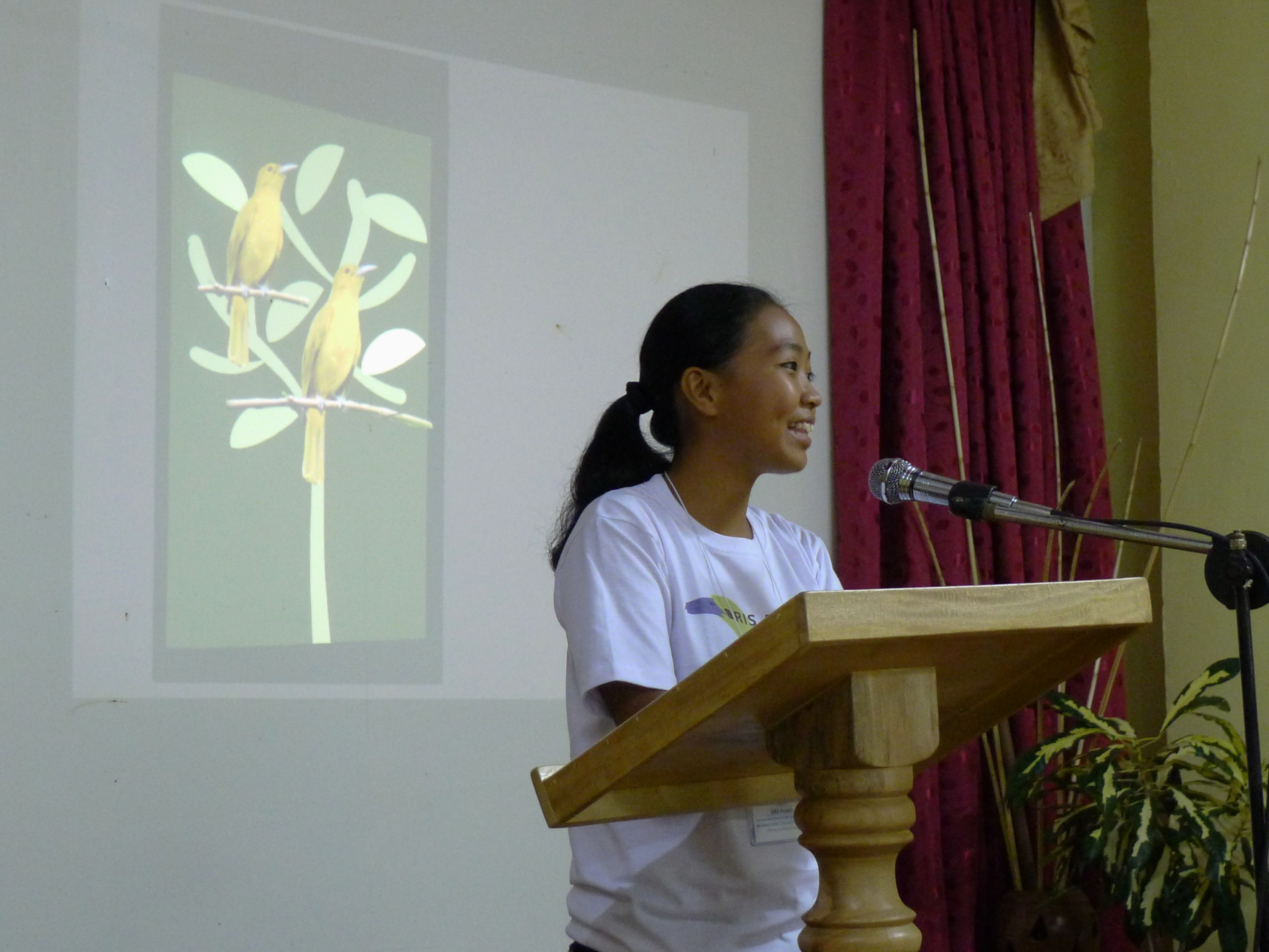 Joni Acay welcoming the participants of the Seminar-Workshop. Photo by Tonji Ramos.