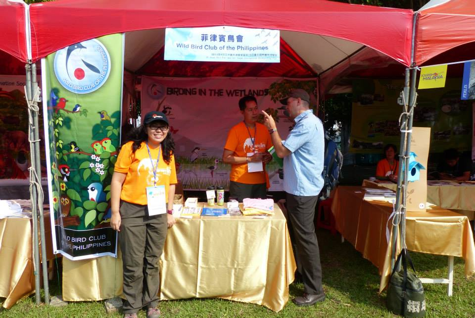 WBCP booth during the 4th Asian Bird Fair in Guandu Park in Taiwan. Photo from Tin Telesforo