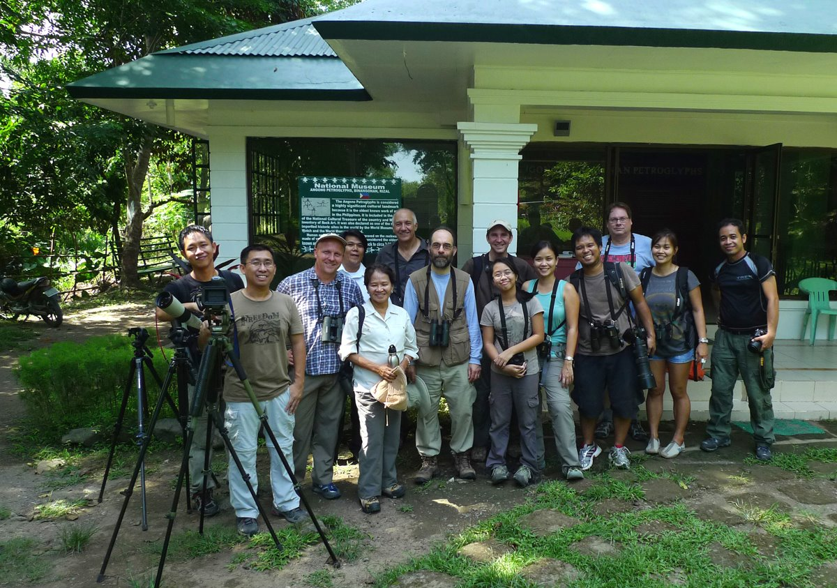 Bringing some visiting birders to the Angono Petroglyphs. Photo from Jun Osano