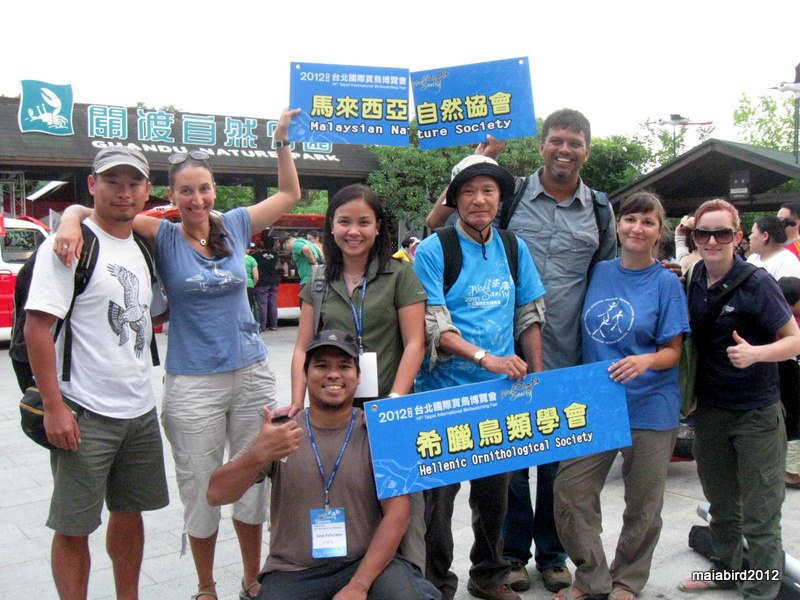 At the 2012 Taipei Bird Fair with friends from Malaysia, Taiwan, Greece, and New Zealand. Photo from Maia Tanedo