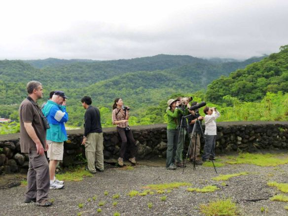 WBCP members took out visiting birders from Australia, Mark Bennett and Chris Christoferson to Mt. Palay-Palay and Caylabne Bay. Photo by  Karen Ochavo