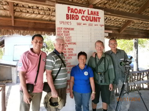 From L-R: Mark Pineda a balikbayan from UK, Dennis Jakoboski, Ms. Elsie Nolasco our CENRO connection, Richard Ruiz, and Doc Pete Calope. Photo from Doc Pete