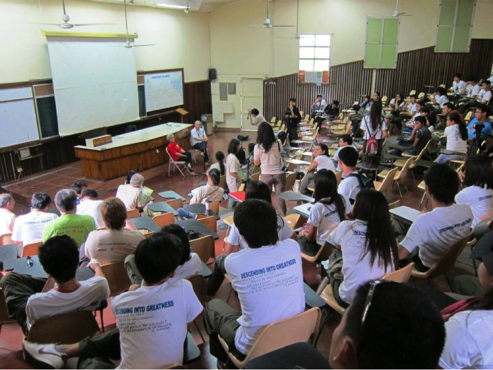 A lecture with bird experts held in Silliman University during the 7th Philippine Bird Festival. Photo by Cristina Cinco.
