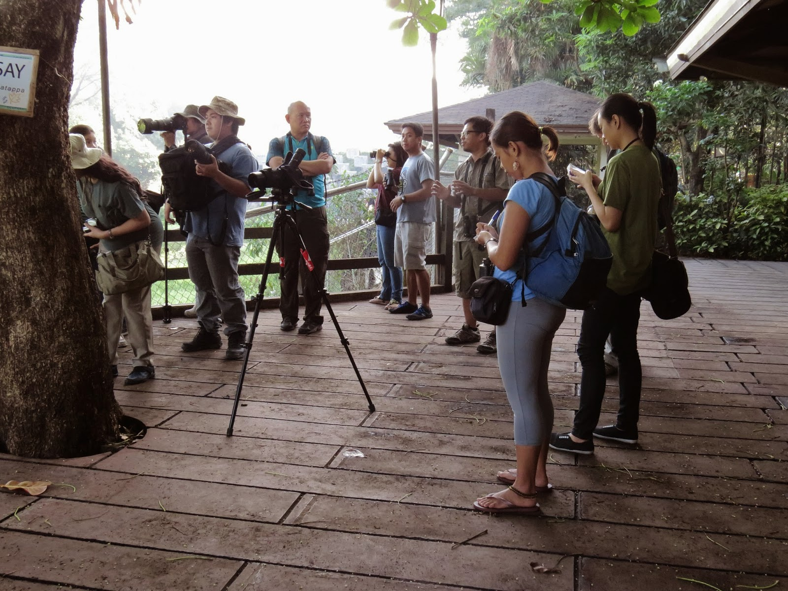 One of the WBCP Guided Trips that introduces the nonbirding community to birdwatching. Photo credit: Maia Tañedo