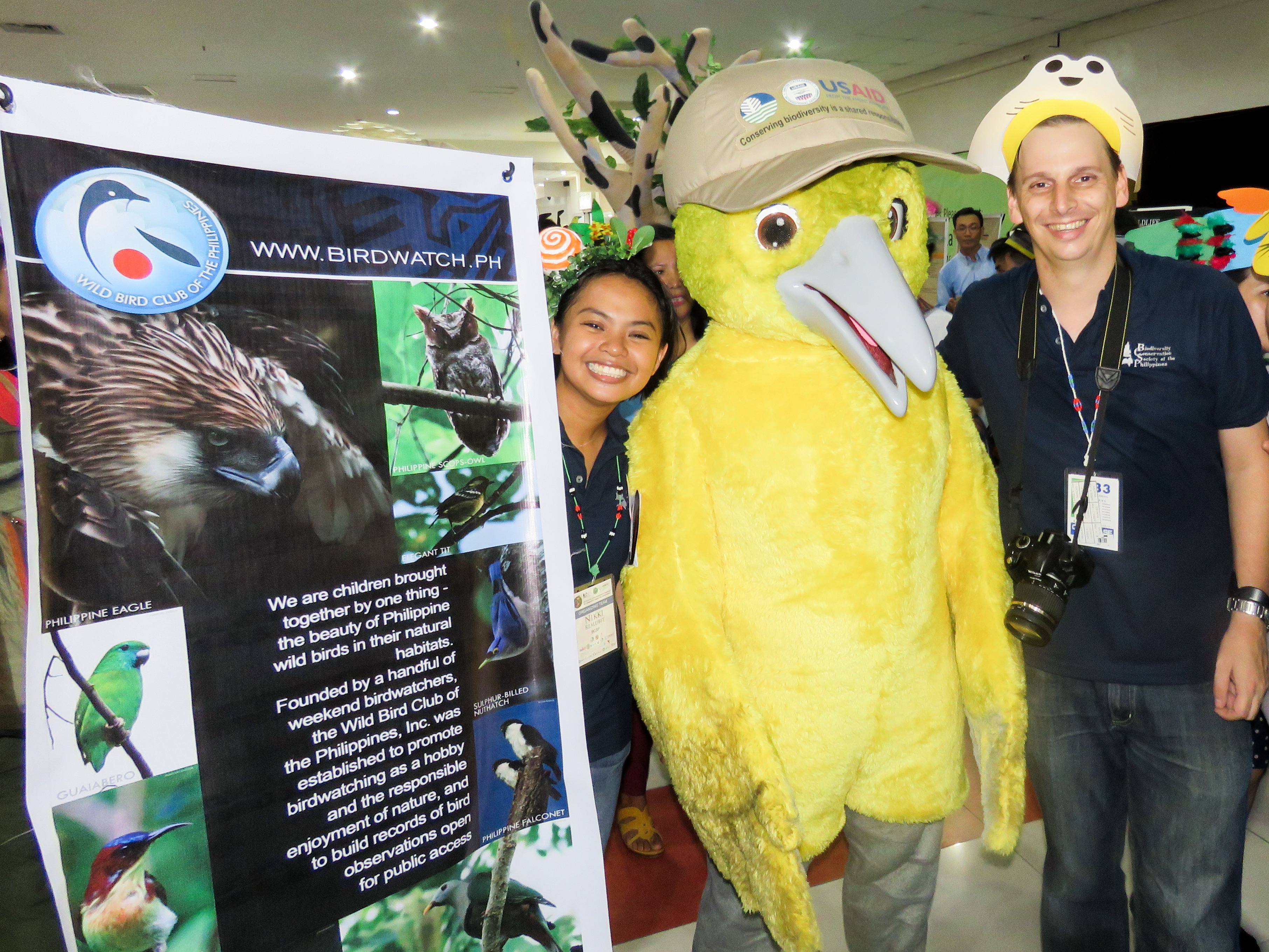 With ORIS mascot Isa the Isabela Oriole at the institutional poster presentations