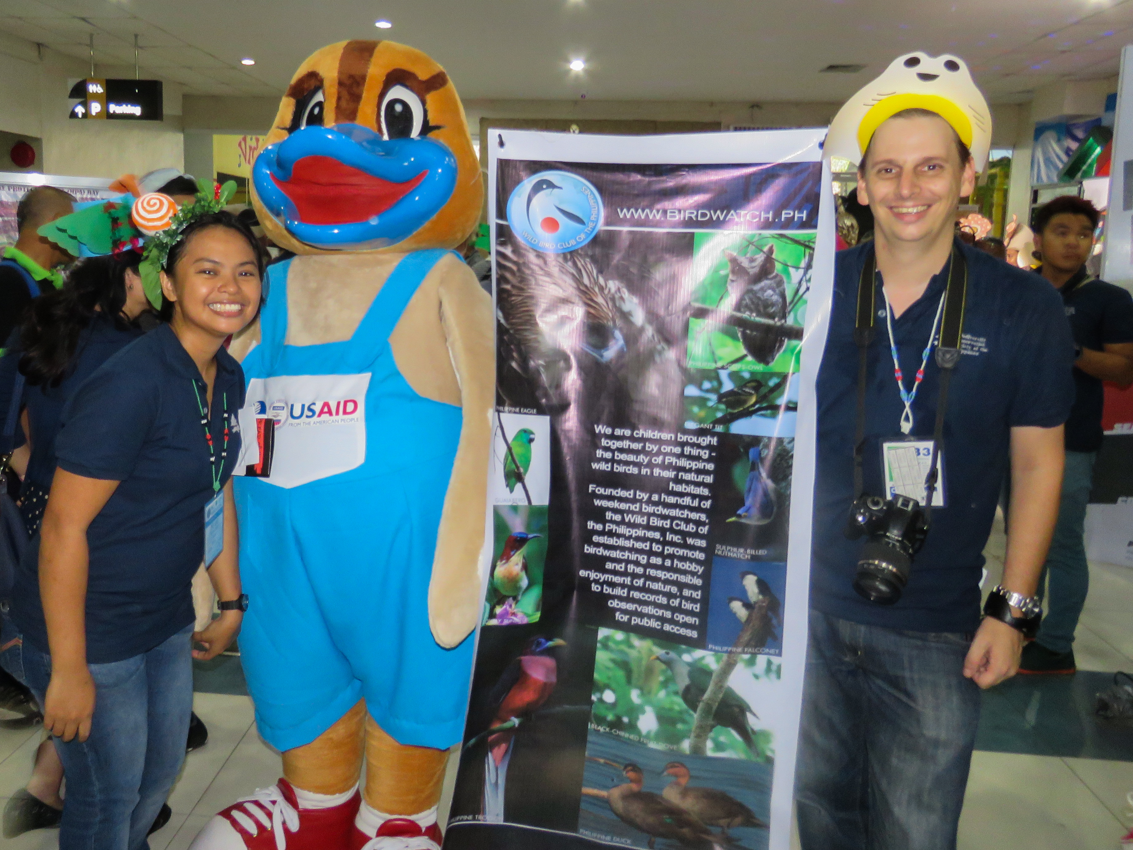 With Papan the Philipppine Duck mascot of B+WISER