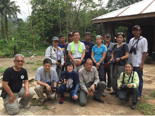 A sombre picture of the ARRCN, WBCP members and CSU personnel at the old CSU site in Sanchez Mira, prior to the release of an injured Grey- faced Buzzard.