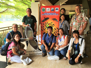 Philippine delegation at the 9th ARRCN Raptor Symposium: 1st row: Jelaine Gan, Alex Tiongco, Adrian Constantino, Trinket Constantino, Neth Miller; 2nd row (standing): Dennis Salvador, Mark Villa, Teresa Cervero, Harry Miller